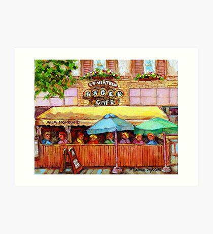 ST.VIAREUR BAGEL CAFE MONTREAL Art Print