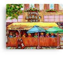 ST.VIAREUR BAGEL CAFE MONTREAL Canvas Print
