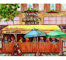 ST.VIAREUR BAGEL CAFE MONTREAL Photographic Print