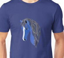 Blue Pony 2 - Midnight Blue Unisex T-Shirt