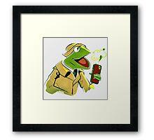 Sesame Kreme Framed Print
