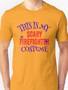Scary Firefighter Costume Unisex T-Shirt