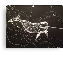Nookie the Narwhale by Liz H Lovell Canvas Print