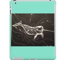 Nookie the Narwhale by Liz H Lovell iPad Case/Skin