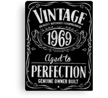 Vintage 1969 Birthday Canvas Print