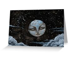 Soft Constellations Framing A Sandy Moon Greeting Card