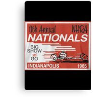 Vintage Drag Racing Canvas Print