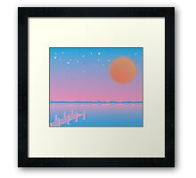 Sunset Overload Framed Print