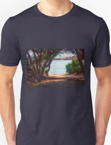 Trees and boats Unisex T-Shirt