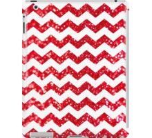 Candy Cane Glitter Chevron Pattern iPad Case/Skin