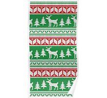Christmas Jumper Pattern Poster