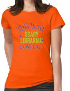 Scary Librarian Costume Womens Fitted T-Shirt