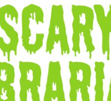 Scary Librarian Costume Sticker