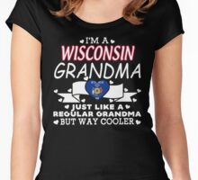 I'm a Wisconsin Grandma Women's Fitted Scoop T-Shirt