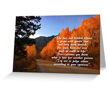 Your Path Greeting Card