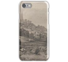Harrow on the Hill etching by Edward Duncan iPhone Case/Skin