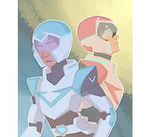 The Red & Blue Paladin Photographic Print