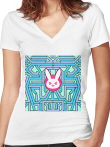 Rabbit Overwatch Women's Fitted V-Neck T-Shirt