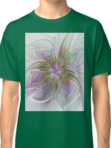 Floral abstract and colorful Fractal Art Classic T-Shirt