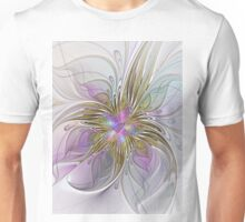 Floral abstract and colorful Fractal Art Unisex T-Shirt