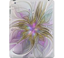 Floral abstract and colorful Fractal Art iPad Case/Skin