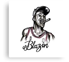 Blazin Jordan Canvas Print