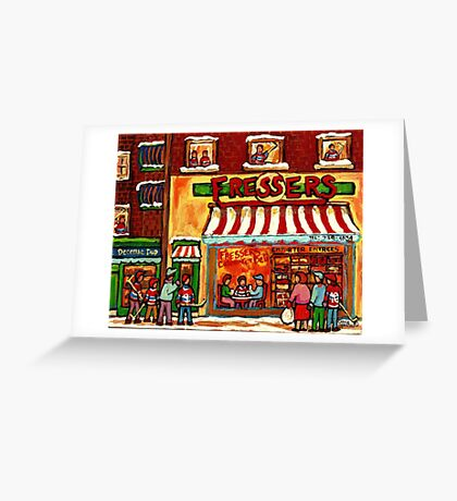 FRESSER'S DELICARESSEN AND HOCKEY MONTREAL Greeting Card