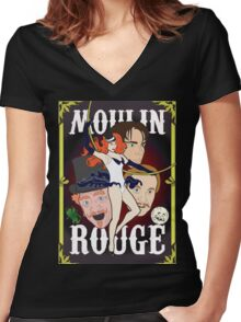 moulin rouge Women's Fitted V-Neck T-Shirt