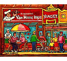 VAN HORNE BAGEL AND YANGZTE RESTAURANT MONTREAL Photographic Print