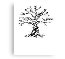 abstract black tree Canvas Print