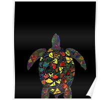 the Turtle Girls Crew Neck Cotton T-shirt Poster