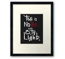 No pain in the city of light - White version Framed Print