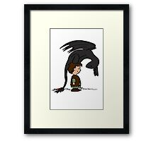 He's Your Dragon, Hiccup Framed Print