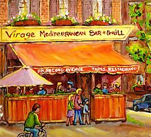 LE VIRAGE MEDITERRANEAN RESTAURANT NEW YORK CITY by Carole  Spandau