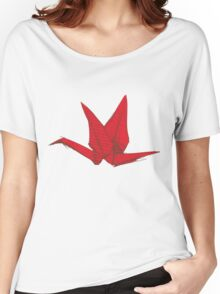 Red Origami Bird Women's Relaxed Fit T-Shirt