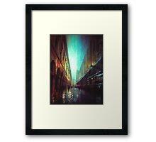 In the Rain  Framed Print