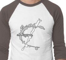 Hollow Epsilon Bar Sinister Men's Baseball ¾ T-Shirt