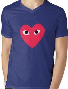 Comme des Garcon - Large/Center Mens V-Neck T-Shirt
