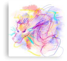 Dragón Digital Color Canvas Print