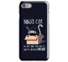 Ninja cat iPhone Case/Skin
