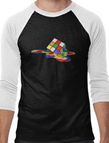 Rubiks Cube Melting Men's Baseball ¾ T-Shirt