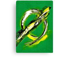 Circular Green apocalypto Canvas Print