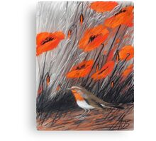 rotes Lied Canvas Print