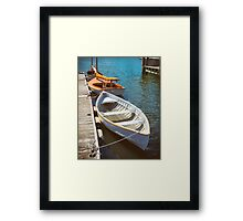 At The Small Boat Dock Framed Print