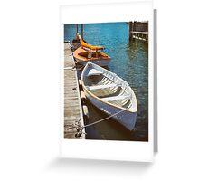 At The Small Boat Dock Greeting Card
