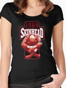 Skinhead Cross And Sitting Boy Women's Fitted Scoop T-Shirt