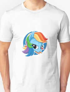 Rainbow Dash Portrait Unisex T-Shirt