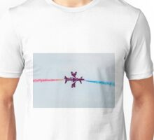Red Arrows synchro pair Unisex T-Shirt