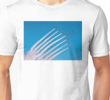 Red Arrows swan formation Unisex T-Shirt