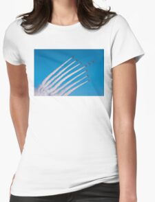 Red Arrows swan formation Womens Fitted T-Shirt